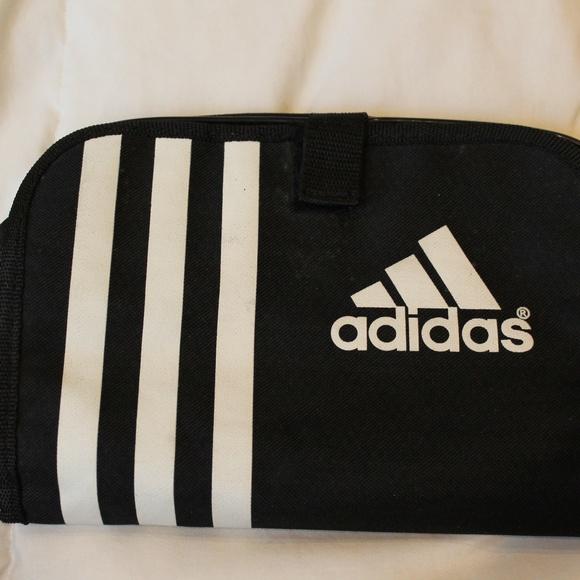 adidas Handbags - adidas   Black White Striped Makeup Bag Clutch b89dae5737e48